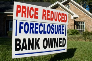 foreclosure, bank owned, property sign
