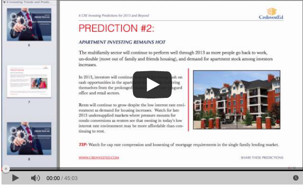 6 Commercial Real Estate Predictions for 2013