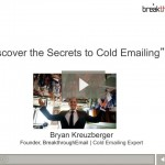 Cold email webinar still shot