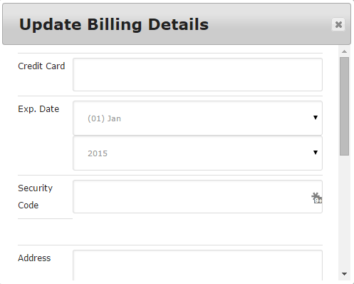 Update Payment Method
