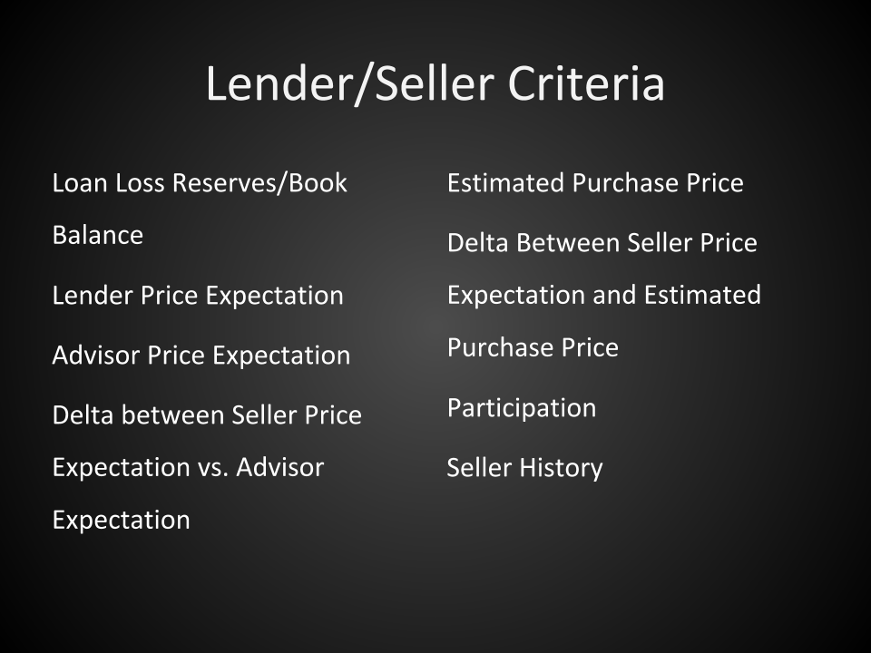 buying notes - seller criteria