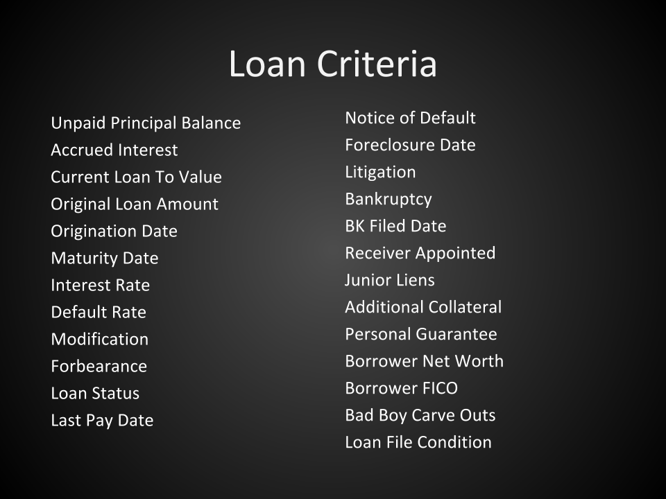 note buying - loan criteria