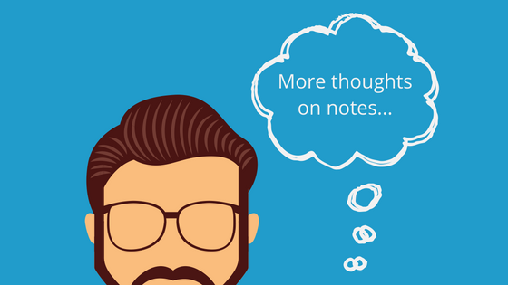 more thoughts on notes